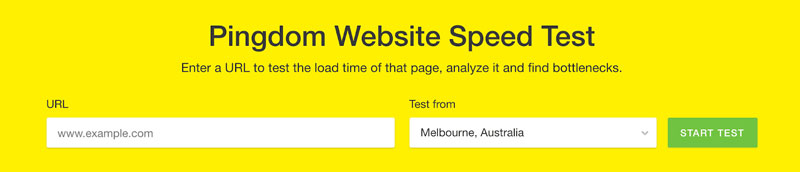 Test Site Speed with Pingdom