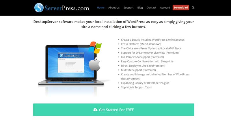 ServerPress for local WordPress