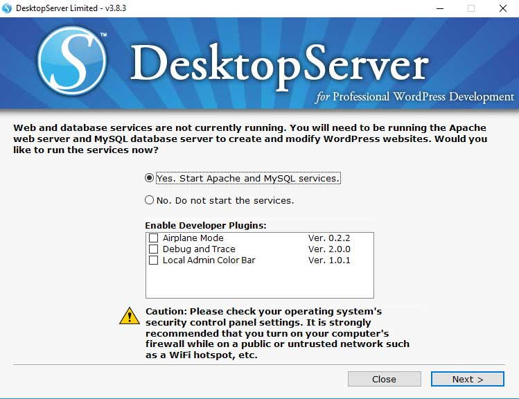 Start DesktopServer