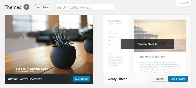 Switching WordPress themes is easy