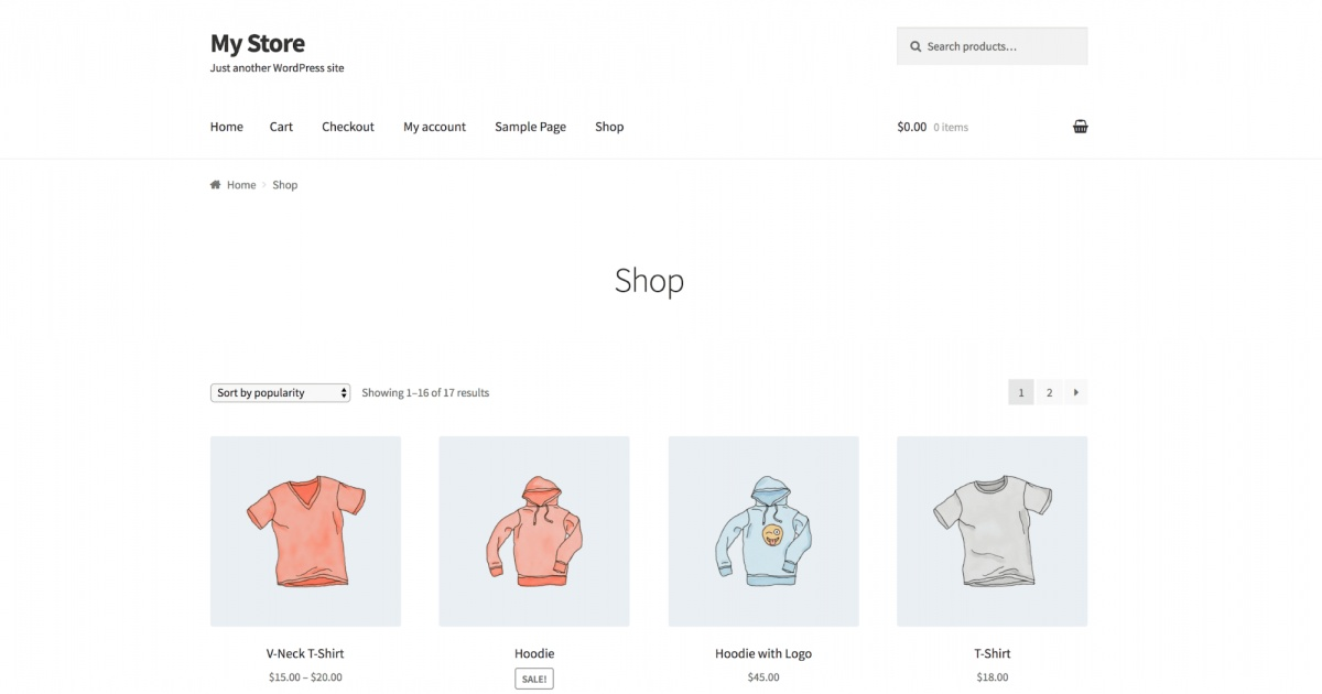 Woocommerce Child Theme Style