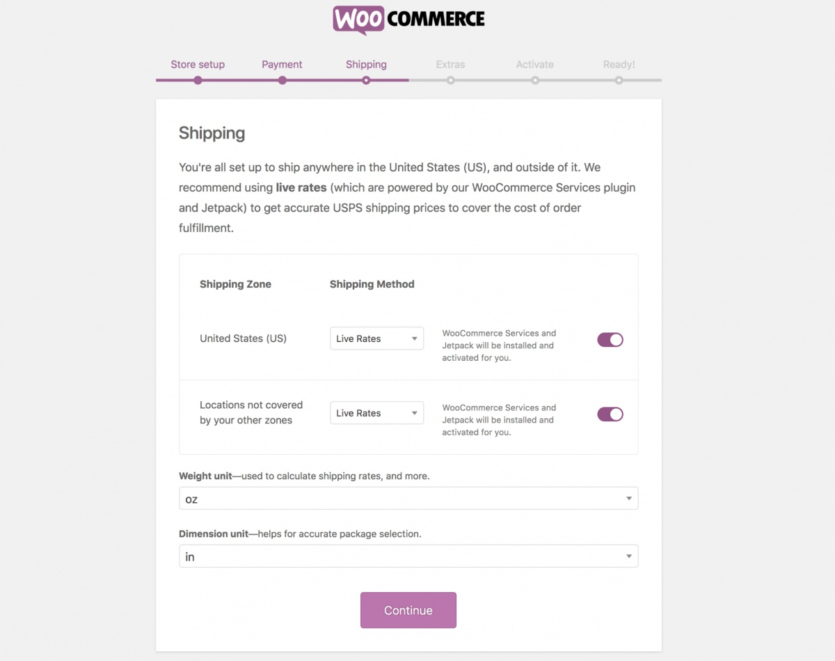 WooCommerce Shipping Information