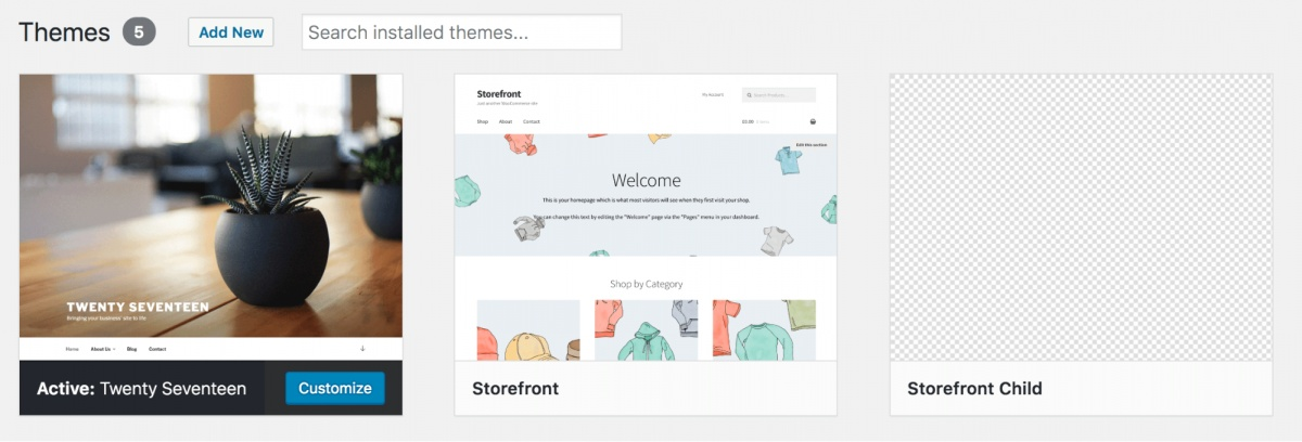 WordPress Theme Directory Storefront