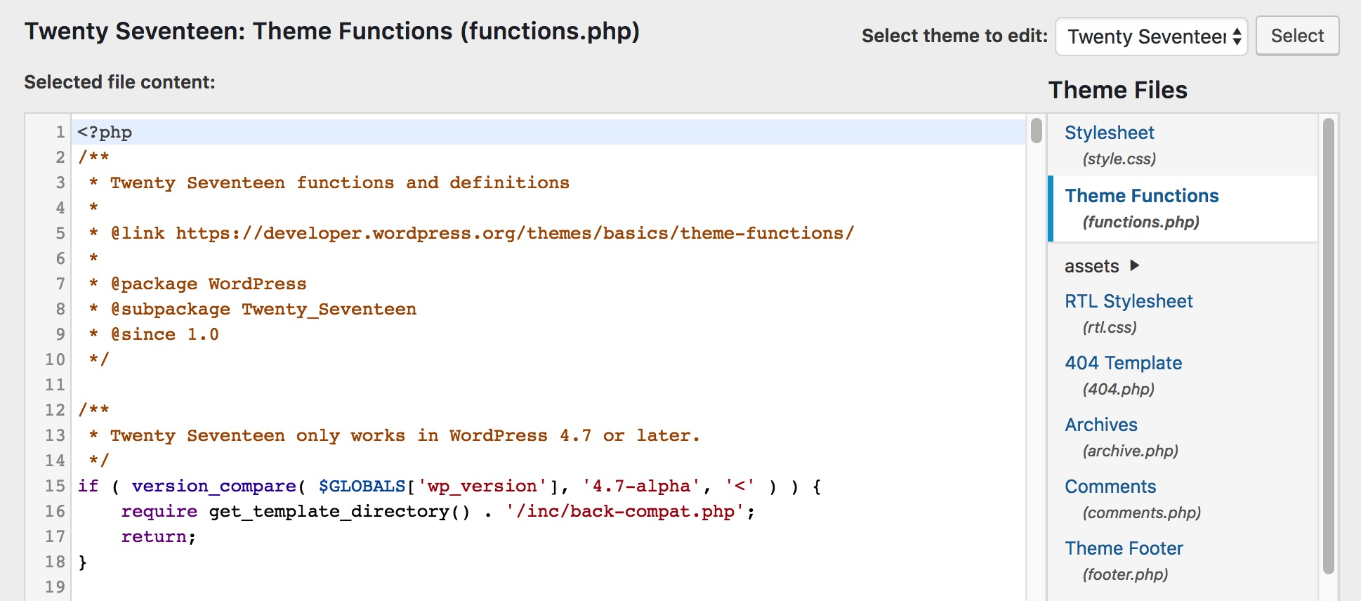 WordPress Themes Functions