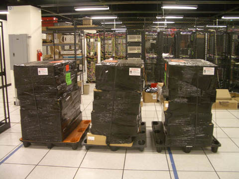 40 servers, 3 pallets
