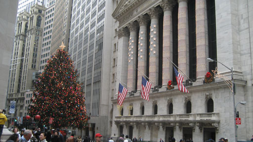 Holiday Tree on Wall Street