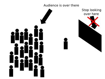 Oh yeah, also, look at your audience when giving a presentation.