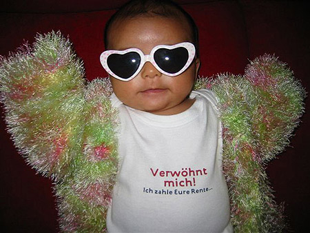 German babies are the richest.