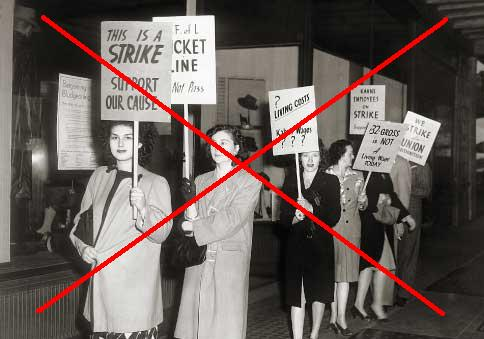 Why can't unions ever strike against strikes?