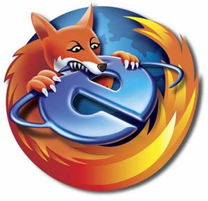 Firefox eats IE because IE is delicious!
