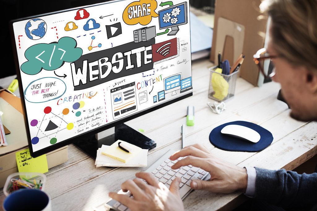 Website Internet Homepage Browser HTML Concept