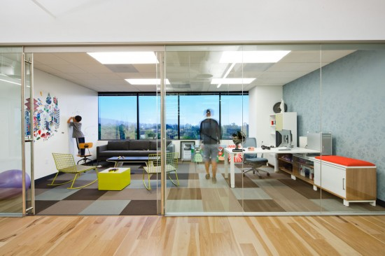 When you start a company, you get the big office.