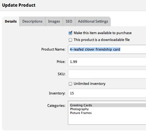 Add inventory and set pricing - all through a simple-to-use web interface!