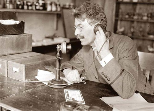 Nothing beats the feel of an old-timey phone.