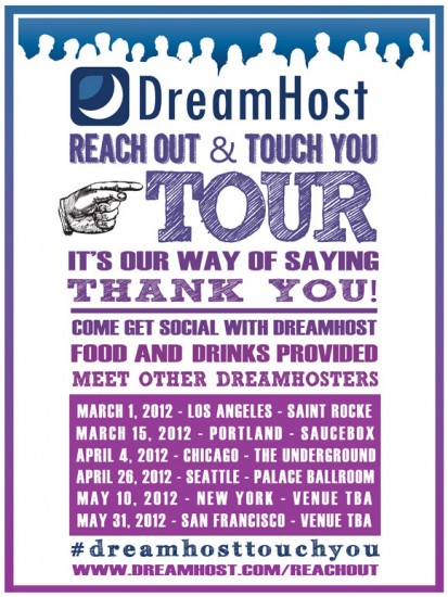 DreamHost's Reach Out & Touch You Tour