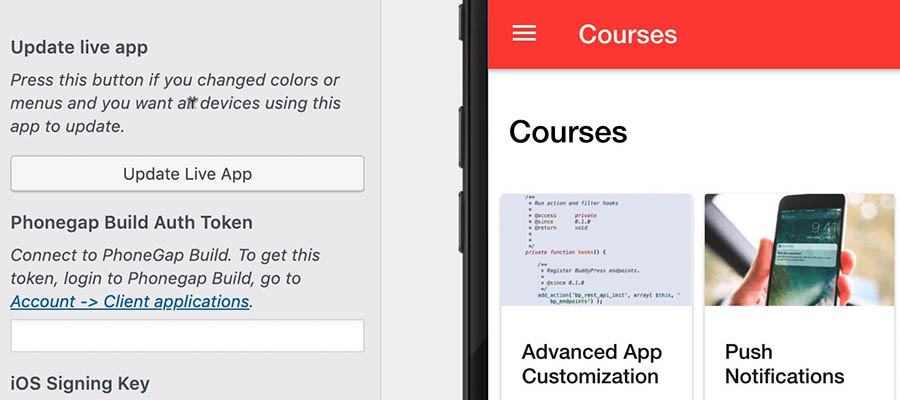 AppPresser app creation and customization process.
