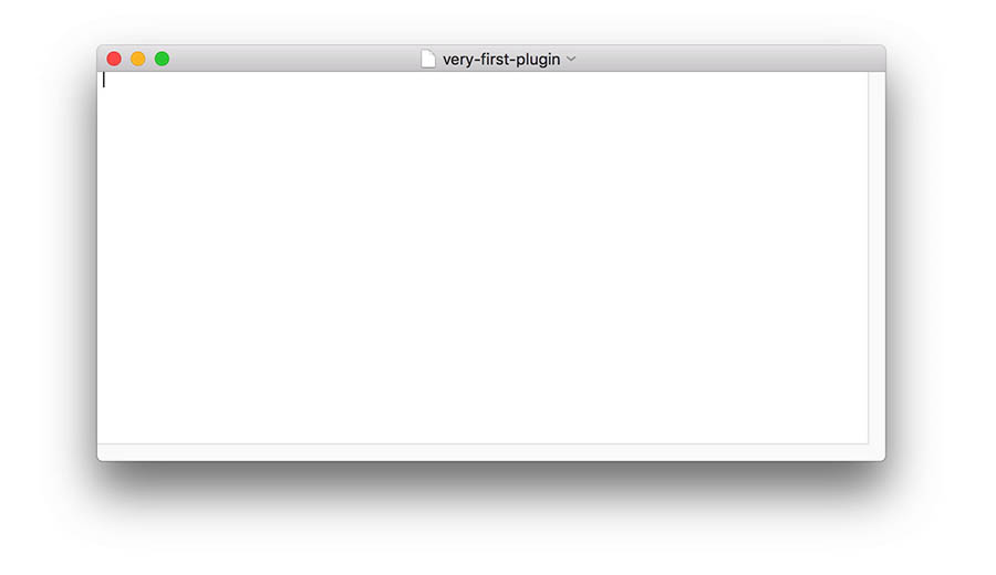 text editor example blank page