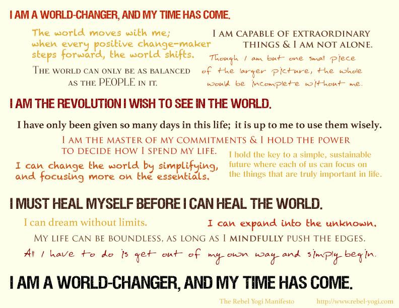 The Rebel Yogi Manifesto
