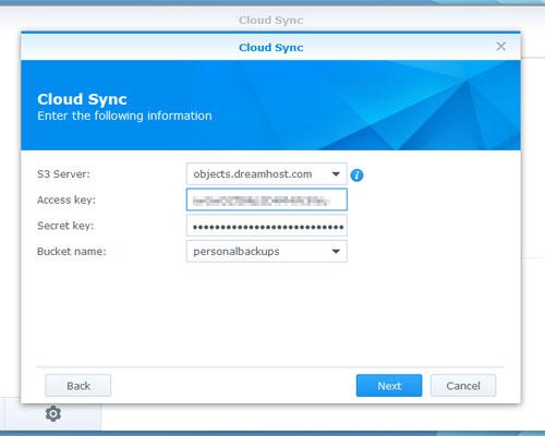 Cloud Sync credentials