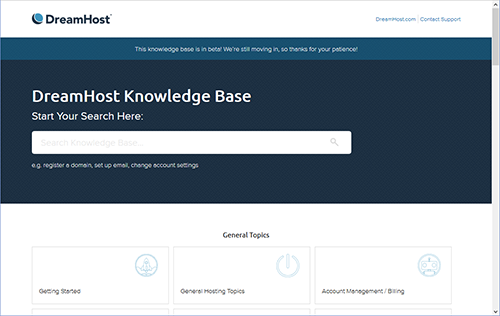 The New DreamHost Knowledge Base