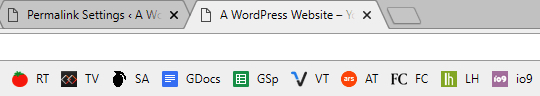 A browser tab without a favicon.