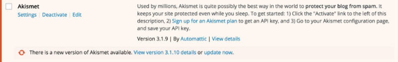 WordPress Plugins Akismet