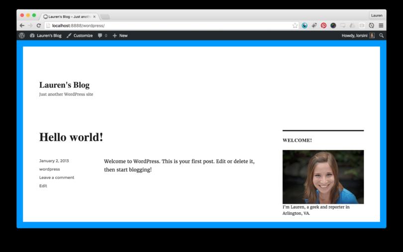 WordPress Finished Website