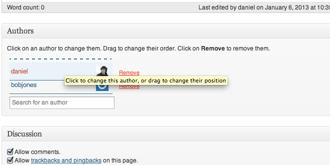 WP - Change an Author