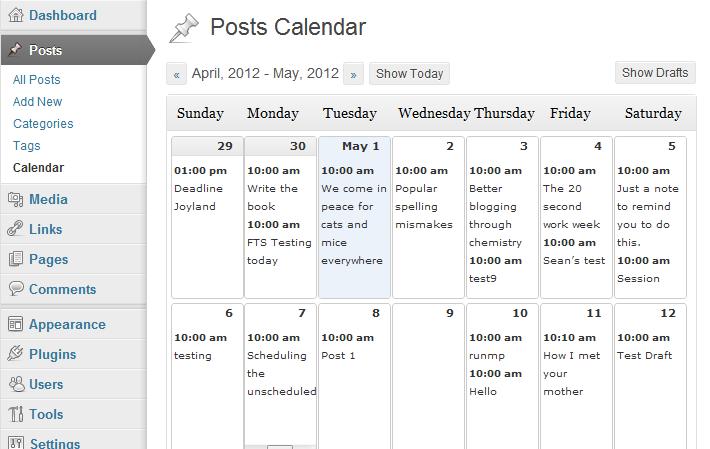 WP - Posts Calendar