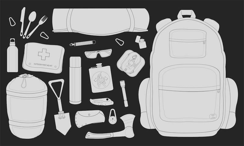 camping set first aid kit