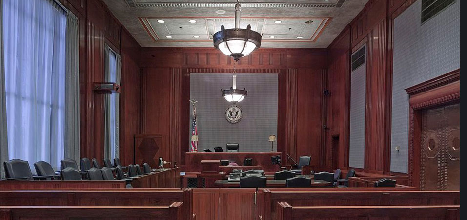 A courtroom!