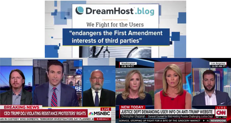 DreamHost on cable news