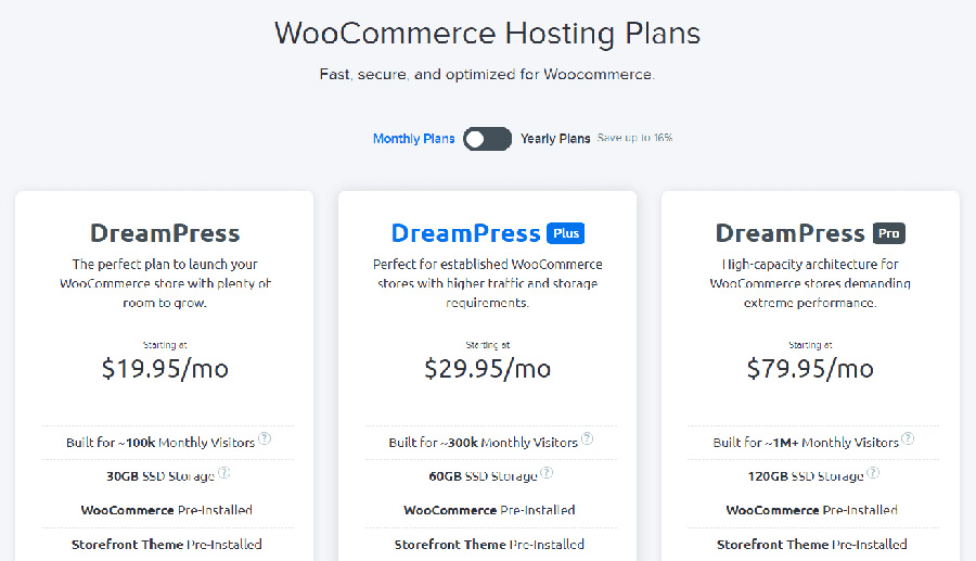 WooCommerce hosting plans.