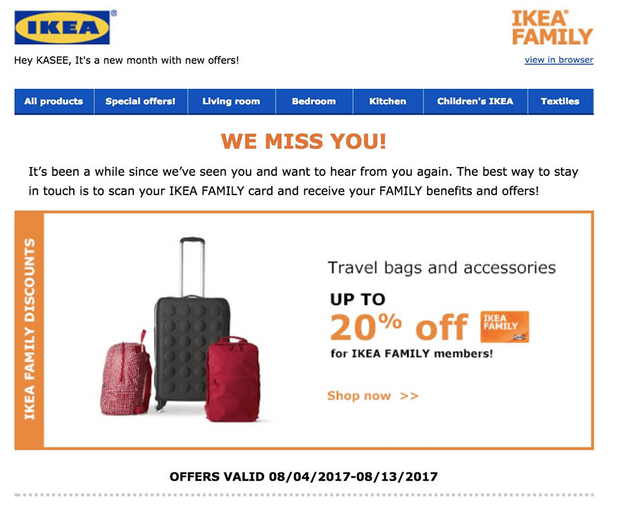 ikeas re engagement emails feature store discounts