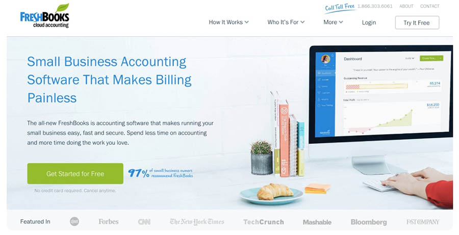 freshbooks cloud accounting home page
