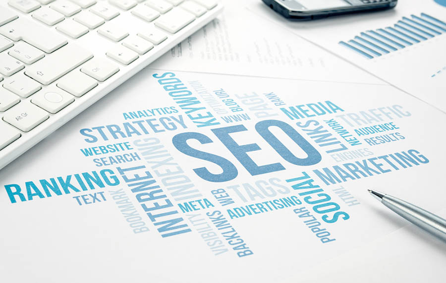 seo keyword research abstract collage