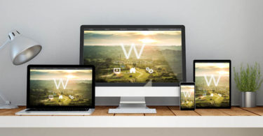 website design theme on multiple devices