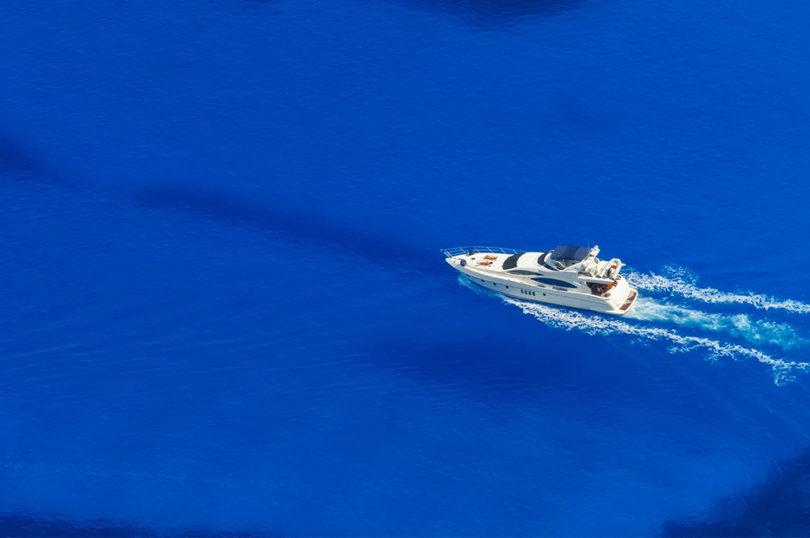 luxury yacht at sea