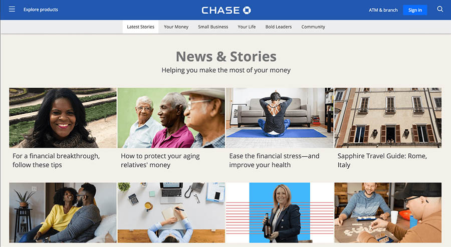 "chase bank blog ""news & stories"""