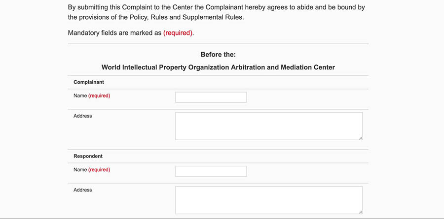Adding complainant and respondent details.