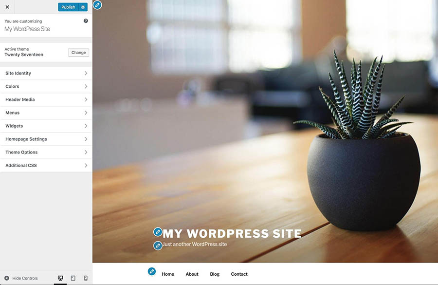 Customizing a WordPress theme.
