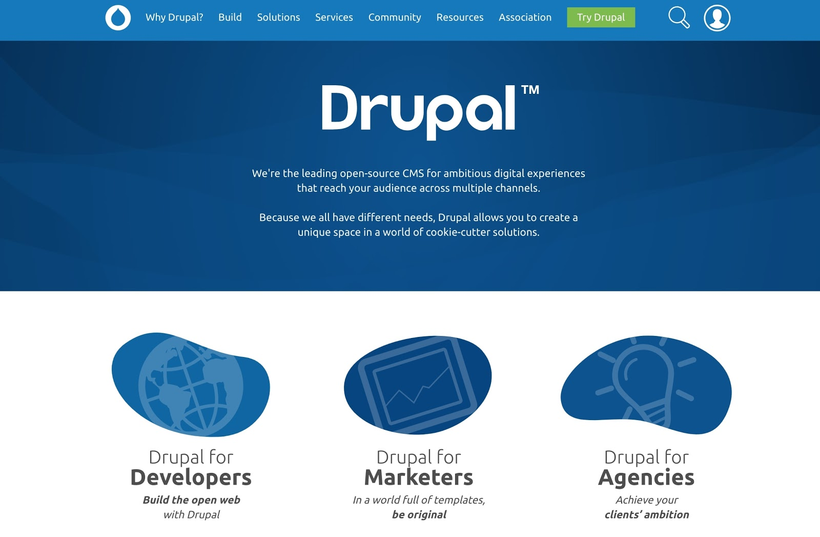 The Drupal homepage