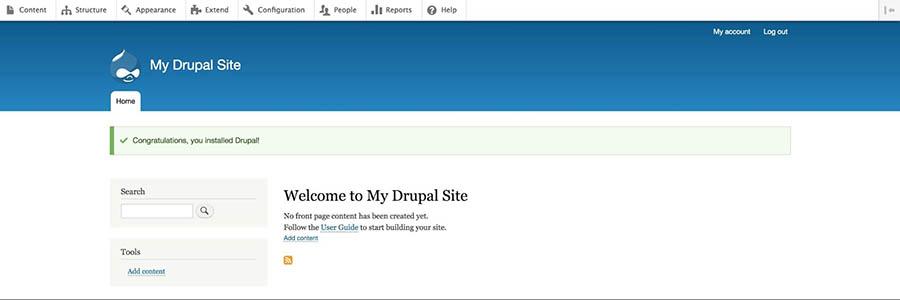 A new Drupal site.