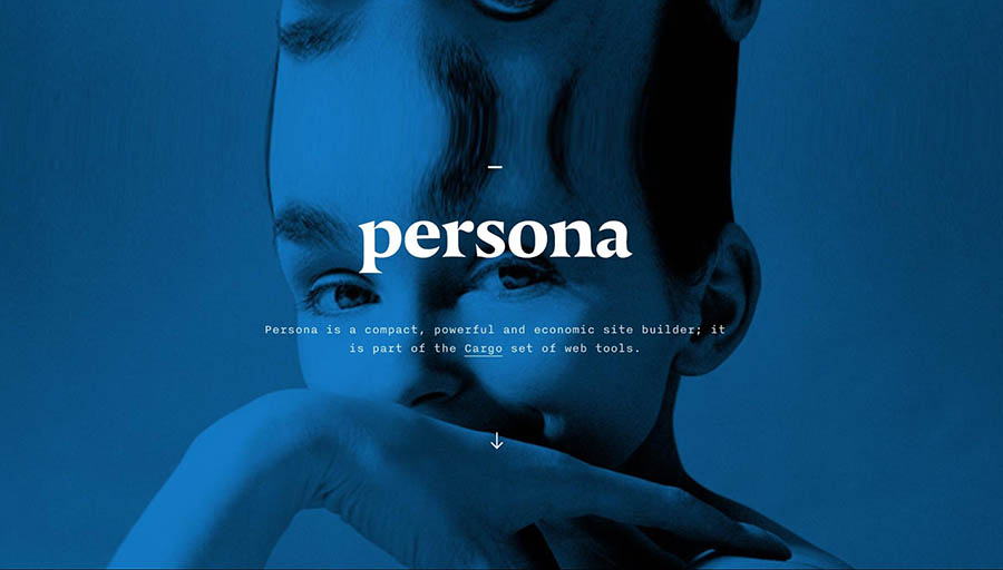 The Persona homepage.