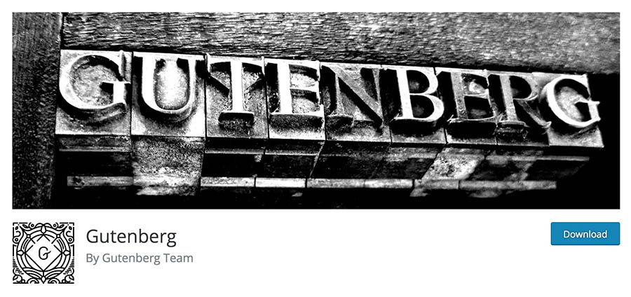 The Gutenberg plugin.