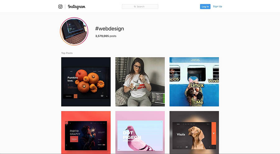 Instagram posts tagged as #webdesign.