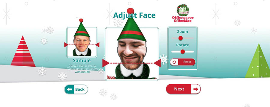 Using the Elf Yourself website to create an elf.