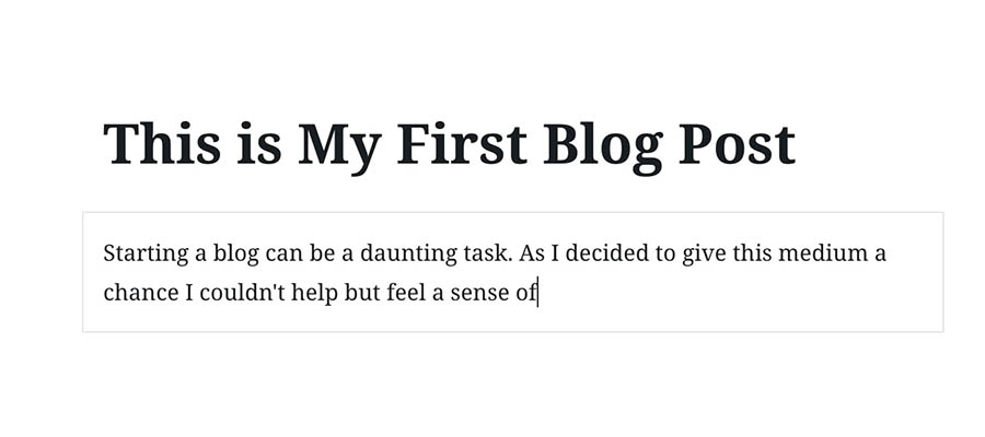 Writing a post.