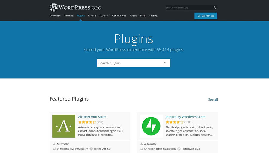 The WordPress Plugin Directory.