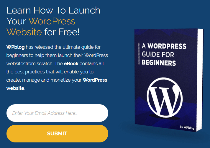 A WordPress e-book guide.
